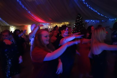 A Snippet of the biggest macarena of the year, taken at Gwel an Mor during Christmas Party Season, December 2015