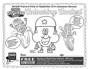 Norfolk Popcorn Party Colouring Contest