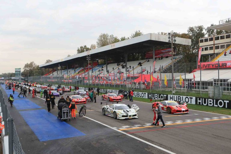 Starting Line at Monza Ferrari Challenge Finali
