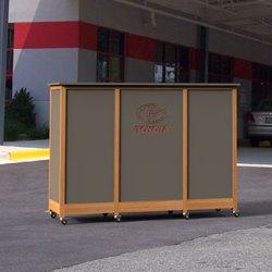 outdoor service podium