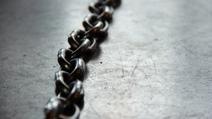 "Link Chain on the floor to represent ""link building"""