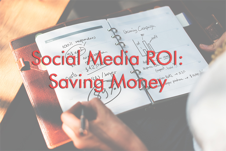 A notebook filled with the break down of a social media campaign proving social media ROI