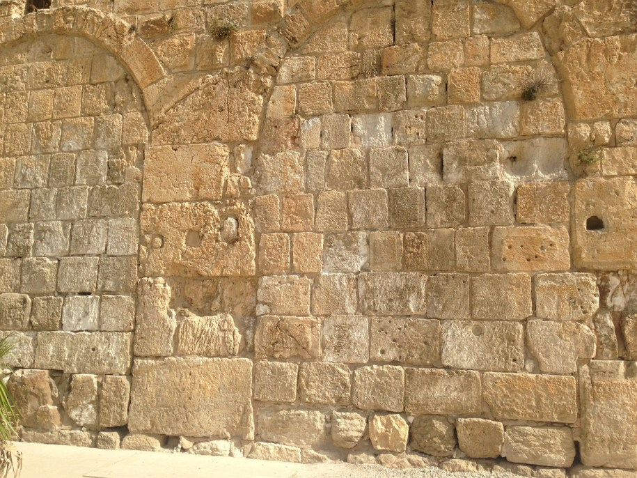 Jerusalem Stone, Hulda Gates arches filled in