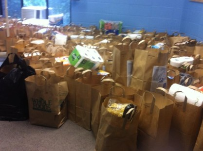 "Food collected for ""The Ark"" High Holy Day Food Drive"