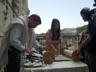 Bat Mitzvah of Hannah Rosen at Robinson's Arch - Jerusalem