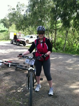 Me and my rental bike on the ride. The chain was terrible and it took them until the last day to fix it!