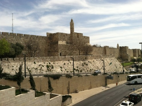 The walls of the Old City of Jerusalem