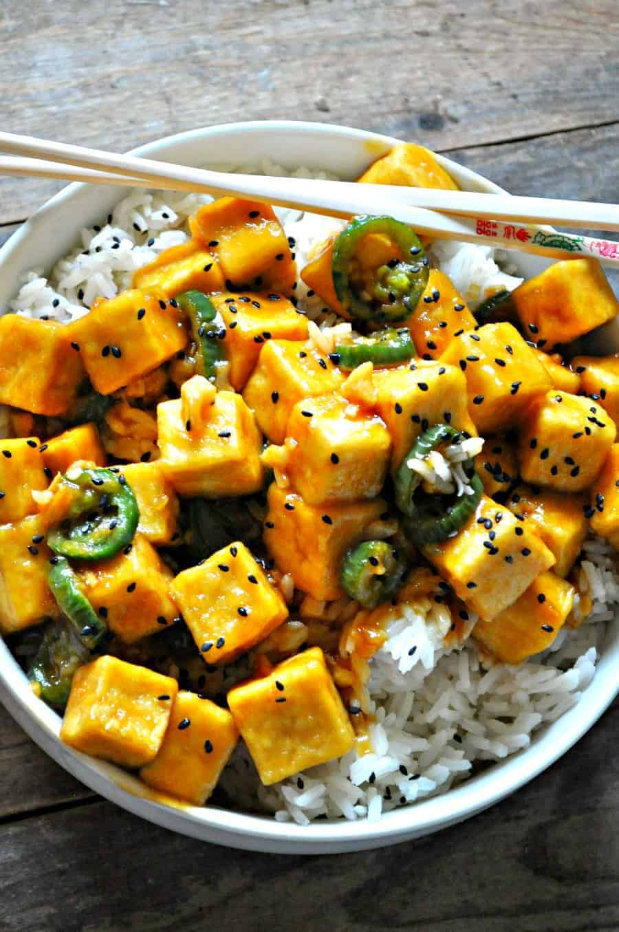 Vegan crispy hawaiian garlic tofu rabbit and wolves this vegan hawaiian garlic tofu is so damn yummy it is really quick you can bake it or fry it serve it with rice and veggies forumfinder Image collections