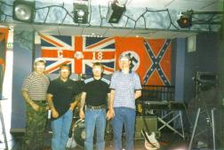 Here is a rare picture of Blood & Honour and Combat 18 neo-Nazis at a Loyalist Volunteer Force fundraising gig in Belfast. Niko Puhakka (the Finnish MMA fighter due to fight in Dublin next month) was one of Blood & Honour Finland's top security members.
