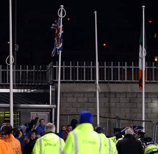 Union Flag raised in Tallaght