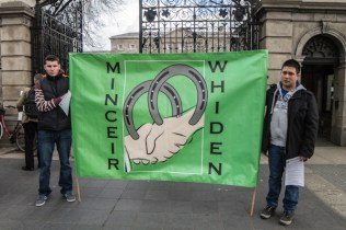 Michael Collins & Michael McDonnell: their sign is Cant for 'Men together' a sign of peace.