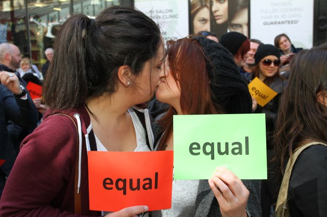 Activists in Dublin recently calling for Marriage Equality