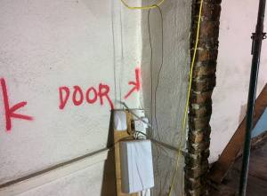 Internal door marked out.