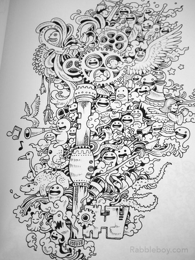 Doodle Invasion, A Crazy Coloring Book By Kerby Rosanes – Rabbleboy –  Kenneth Lamug Author, Illustrator, Books, Film, Graphic Novels, Writing