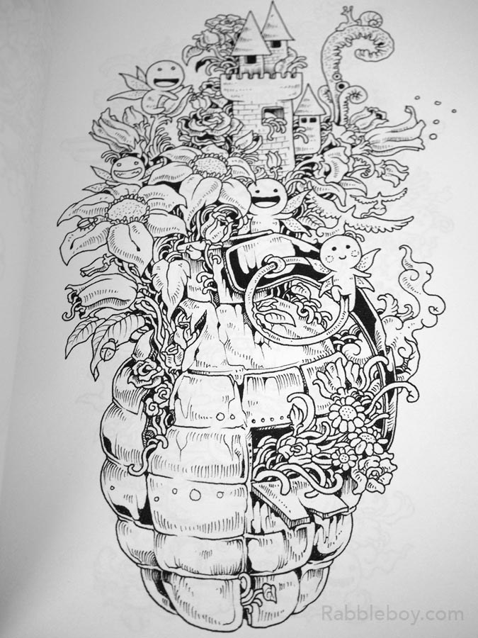 - Doodle Invasion, A Crazy Coloring Book By Kerby Rosanes – Rabbleboy –  Kenneth Lamug Author, Illustrator, Books, Film, Graphic Novels, Writing