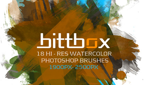 Hi Res watercolor photoshop brushes for textures