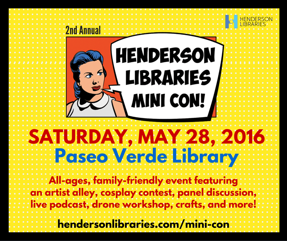 Henderson Libraries Mini Comic con event
