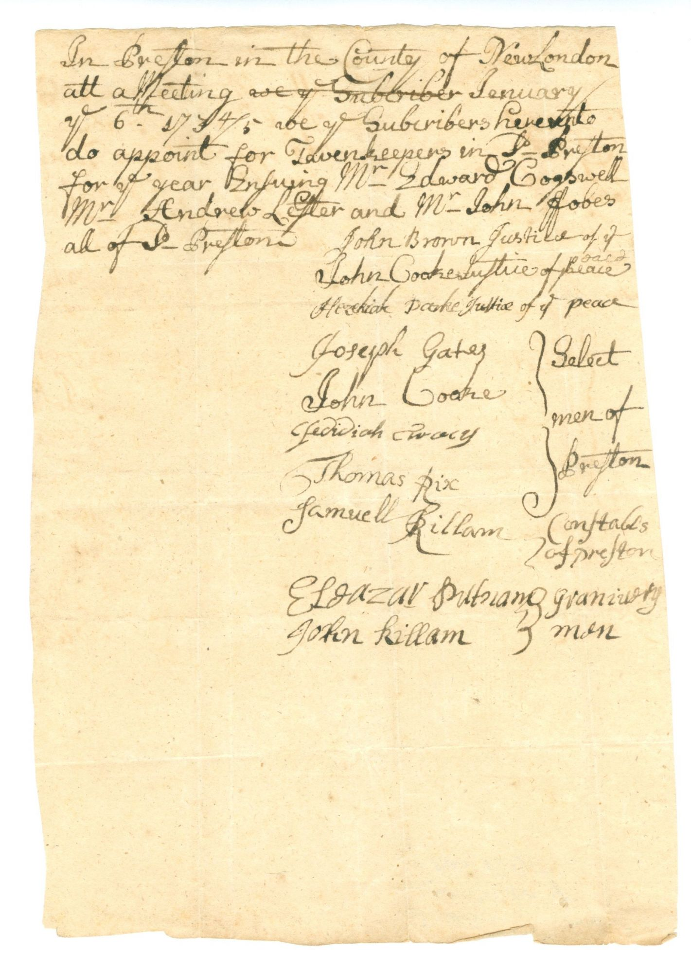 A Collection Of Twenty Five Early American Tavern Licenses