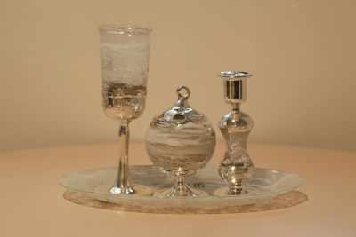 Shabat_Set_Sterling_Silber_Glas