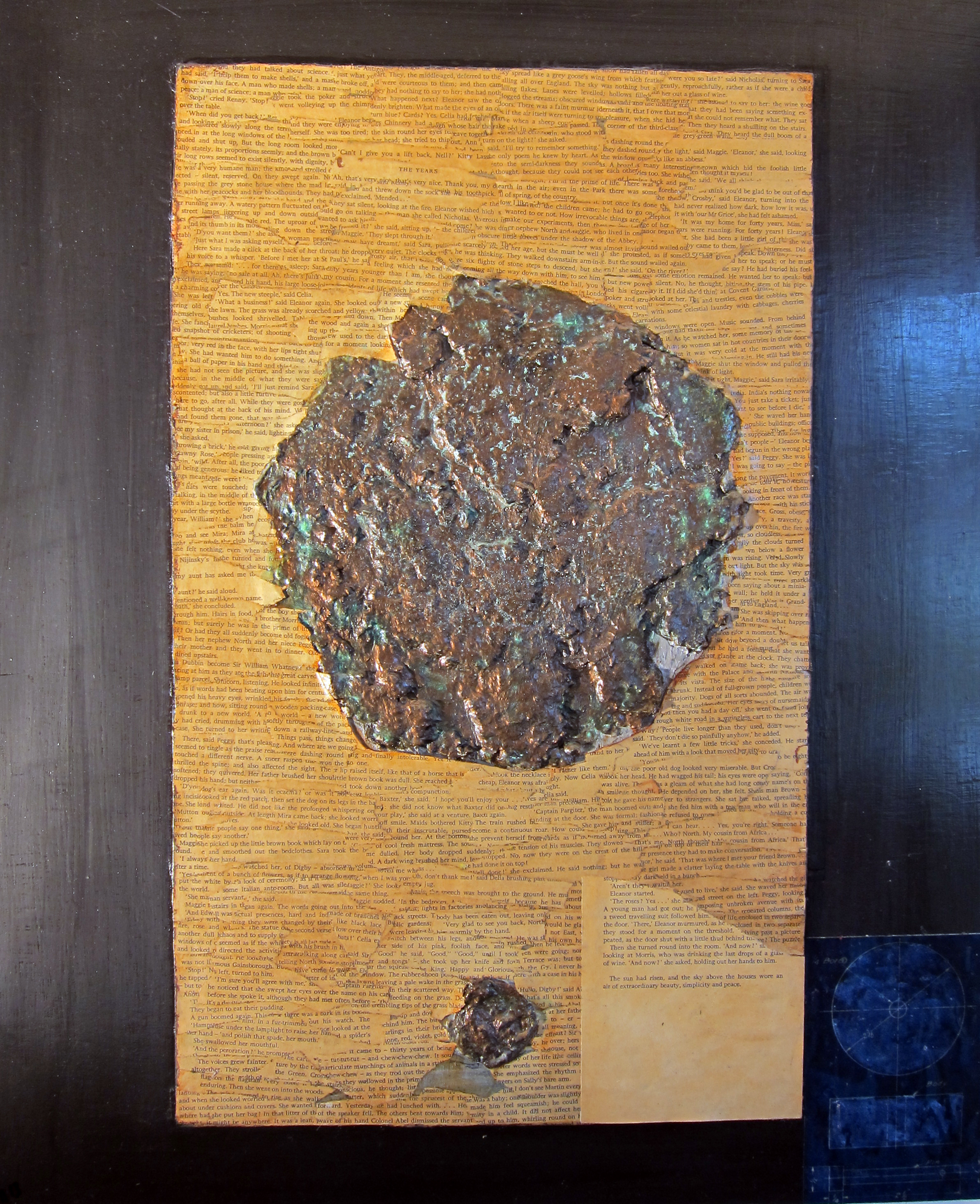 "Giovanni Spezzacatena - Rabideye Fine art ""Puzzling Evidence"" 20""x24""x1.5"" on  wood panel - collage + mixed media $225"