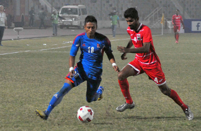 Nawayug Shrestha was announced as the best player of the tournament  in Bangabandhu Gold Cup 2016