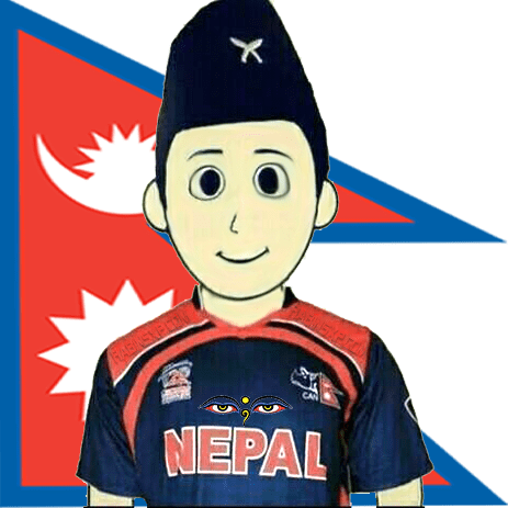 I'm Supporting Nepali Cricket-eyes-no-txt-in-topi