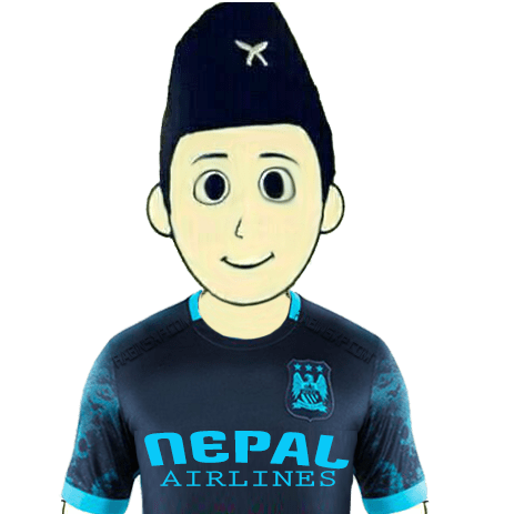 Manchester City Fan From Nepal - Without Flag - Nepal Airlines-PNG