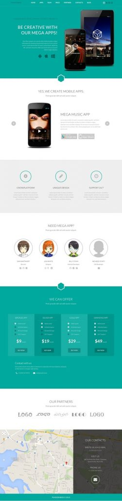 Pandora Box - Onepage WordPress Theme