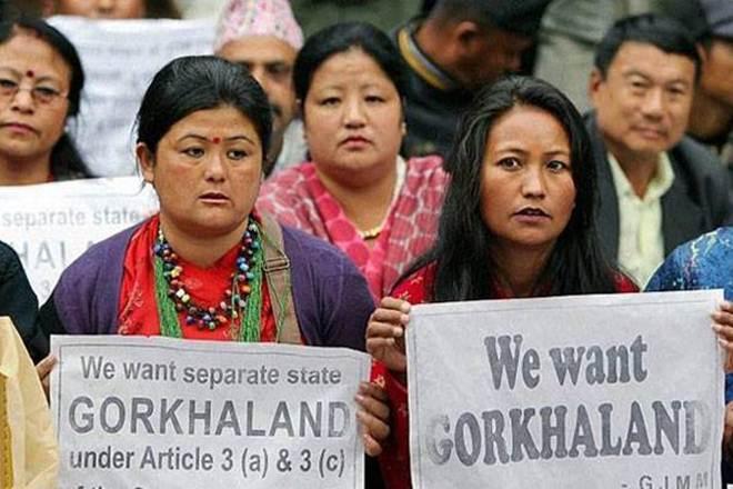 Gorkhas in Darjeeling Demanding for Gorkhaland