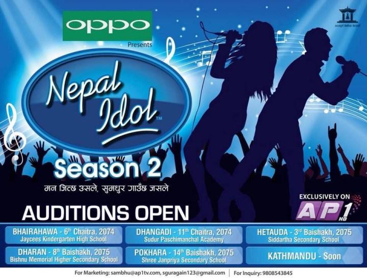 nepal-idol-season-two-audition-dates-time