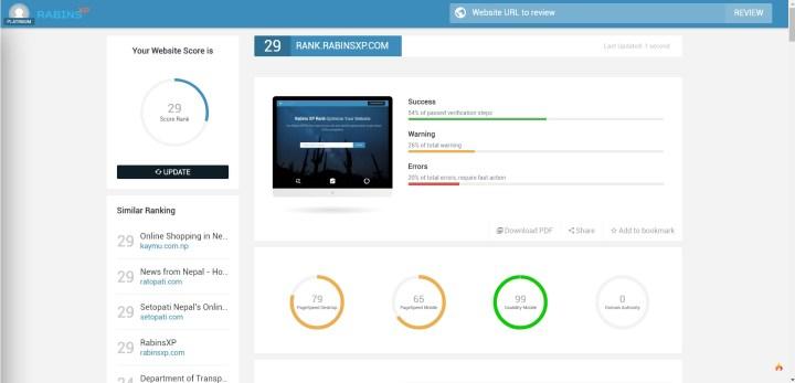 Increase Website Rank using RabinsXP Rank