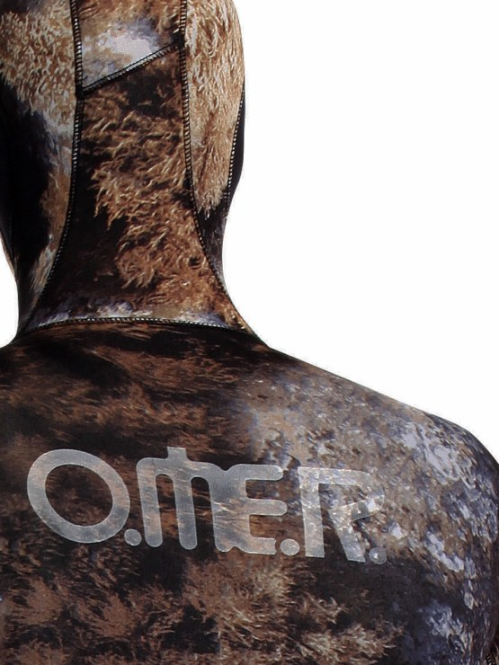 Closeup of OMER wetsuit