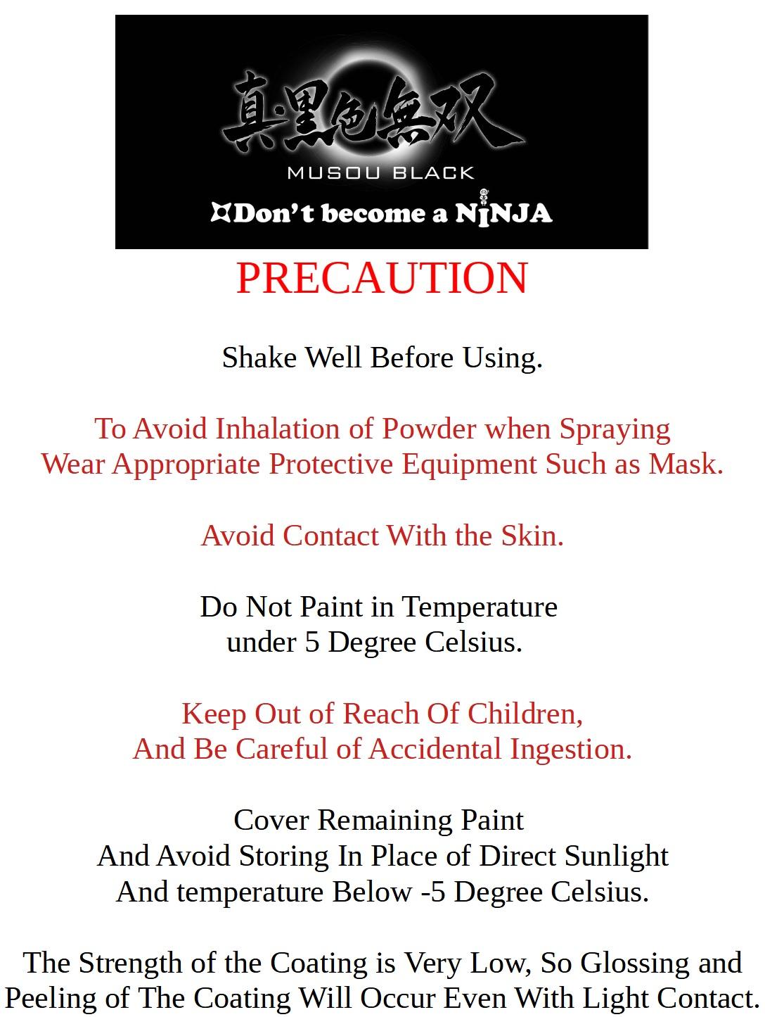 Precaution text EN