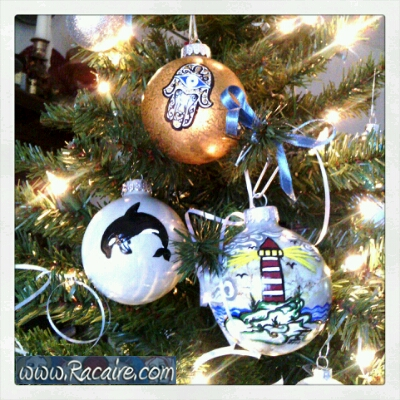 2016-12 - Racaire - hand painted christmas ornaments - special hand made christmas gifts