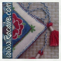 Racaire - 2014 - Another needle book with Klosterstich embroidery - hand embroidery - medieval embroidery