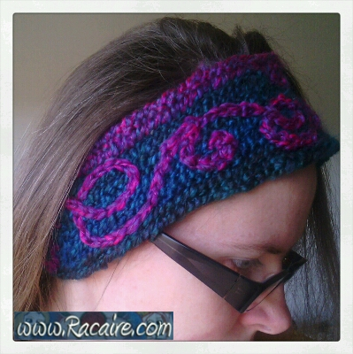 2014 - Racaire - And more nailbinding - a nailbinded headband with embroidery