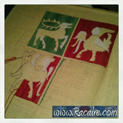 Racaire - 14th century French pouch commission