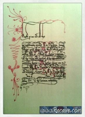 2016-04 - Racaire - SCA scroll - AoA - Award of Arms - calligraphy