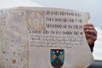 2017-09- Racaire - Duchess Rhiannon - 12th century scroll - SCA scrolls - awards - Kingdom of Meridies - Duchess scroll