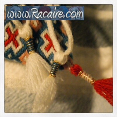 Small embroidered tassels