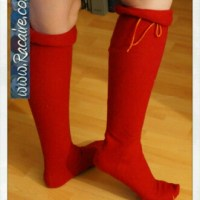 My very first fitted medieval stockings – my first women's hose - more pictures :D