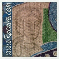 12th century embroidery – Saint Michael and the Dragon – sneak peek.15 – second layer of Saint Michaels garment finished