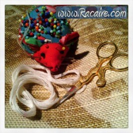 Craft with Racaire - Project 2 – fast and easy pouch tutorial - Step 2 - hand sewing