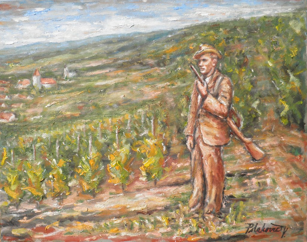 Vojtech Polakovič namaľoval obraz Štefan Pišta Skala, Malokarpatský pytliak.