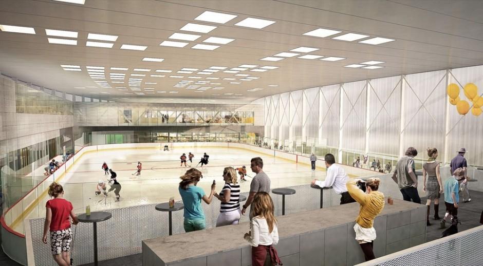 LBG Aréna Rača: Tréningová hokejová resp. korčuliarska hala má slúžiť na prípravu a akcie pre športujúcu mládež.