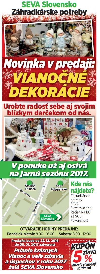 V najnovšom vydaná spravodaja Račan nájdete zľavový KUPÓN v hodnote 5 percent na celý vianočný sortiment