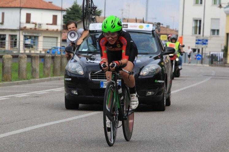 Matilde Vitillo in gara ai Campionati Italiani crono 2018 di Villadose (foto Ghilardi)