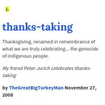 Thanksgiving/Thanks-taking and privilege