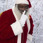 The Black Santa Claus at our local pharmacy