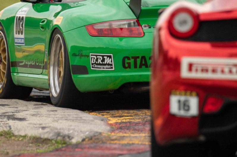 inside turn 8 road america Porsche cup